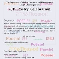 2019 Poetry Celebration | Modern Languages and Literatures