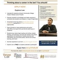 Explore Law Application Open