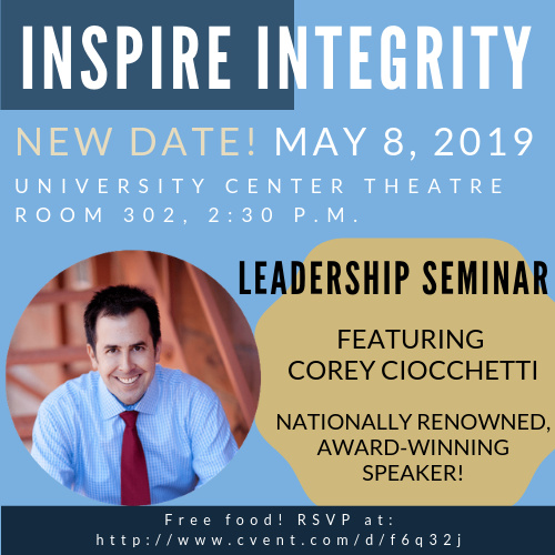 Inspire Integrity! Leadership Seminar with Corey Ciocchetti