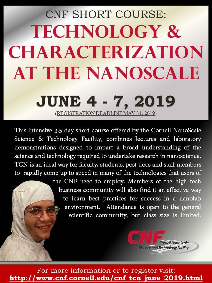 June 2019: CNF TCN Short Course