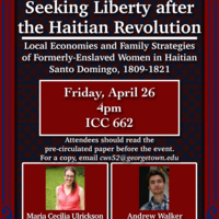 Seeking Liberty after the Haitian Revolution: Local Economies and Family Strategies of Formerly-Enslaved Women in Haitian Santo Domingo, 1809-1821