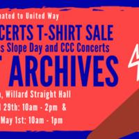 Cornell Concert Archives: our vintage concert t-shirt sale!