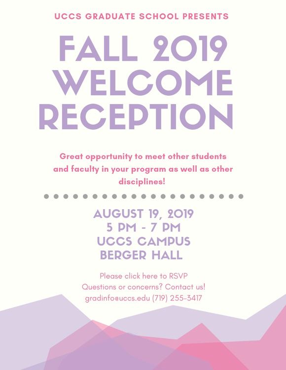 Graduate School Fall Welcome Reception
