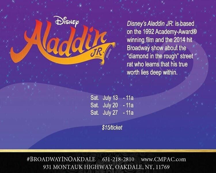 CMPAC Presents: Disney's Aladdin Jr. In The Noel S. Ruiz Theatre