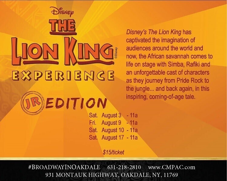 CM Performing Arts Center Presents: Disney's The Lion King Jr. in The Noel S. Ruiz Theatre