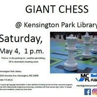 Outdoor Giant Chess Game @ Kensington Park Library