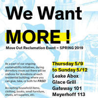 Move Out Reclamation Event!
