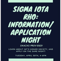 Sigma Iota Rho Application Night