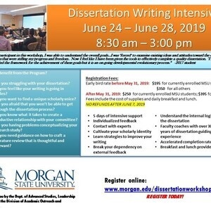 Dissertation Writing Intensive