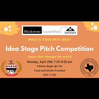 Come out and watch the first ever Idea Stage Pitch Competition