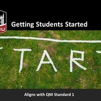 **ONLINE** Quality Online Course Series: Getting Students Started in your Online Course