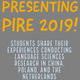 Presenting PIRE: student research and travel presentations
