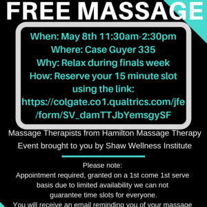 Relieve Stress and Receive a Free Massage