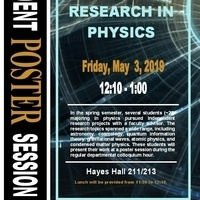 Research in Physics: Student Poster Session