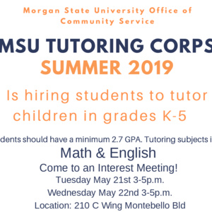 MSU Tutoring Corps Interest Meeting