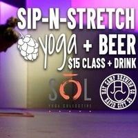 Sip-N-Stretch Yoga