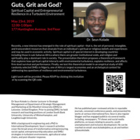 Guts, Grit, and God? Spiritual Capital and Entrepreneurial Resilience in a Turbulent Environment