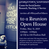 Center for Social Justice Open House for Reunion Weekend
