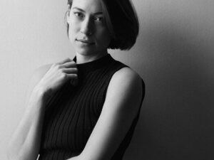 Black and white photo of Anna Burch