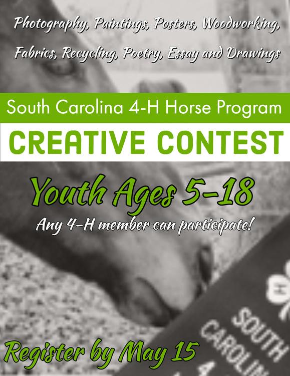 SC 4-H Horse Program Creative Contest Registration Open