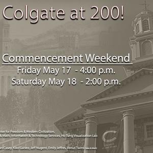Colgate at 200 - Ho Tung Visualization Lab Show